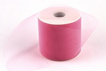 Stuha tylová růžová 10 cm