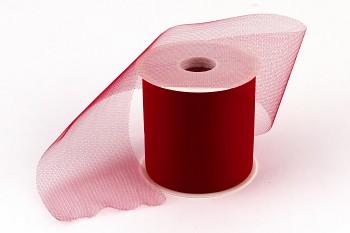 Stuha tylová červená 10 cm