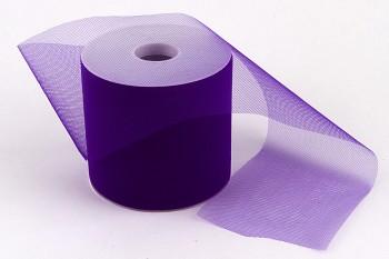 Stuha tylová fialová 10 cm