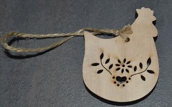 Dřevěná velikonoční dekorace  Osm slepiček