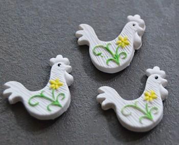Velikonoční dekorace Bílý kohout