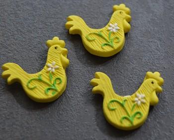 Velikonoční dekorace Žlutý kohout