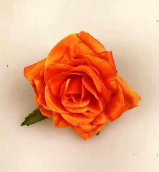 Umělé květiny Růže scarlett oranžová