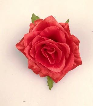 Umělé květiny Růže scarlett červená