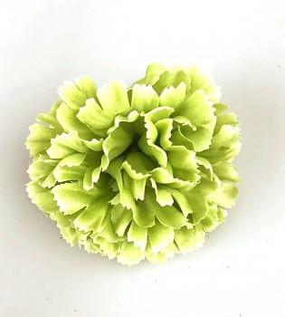 Umělé květiny Karafiát zelený 9 cm