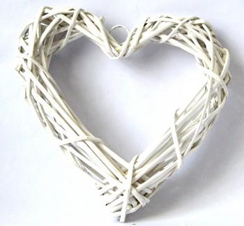 Proutěný věnec Srdce, 23 cm