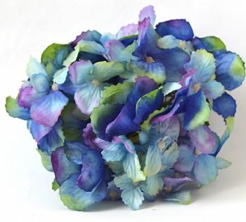 Umělé květiny Hortenzie modrá, 13 cm