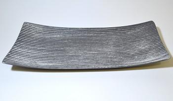 Dřevěný podnos šedý