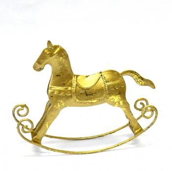 Vánoční dekorace Zlatý koník