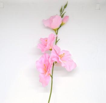 Umělá květina GLADIOLA RŮŽOVÁ