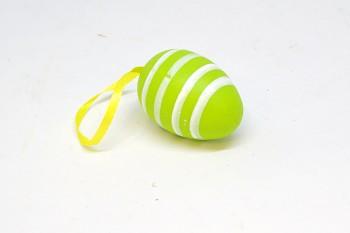 Velikonoční vajíčko ZELENÉ  S PROUŽKY