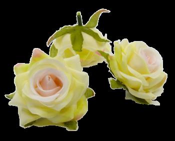 Umělá květina Růže Scarlett růžovozelená