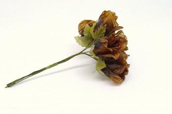 Umělá květina HNĚDÁ RŮŽE
