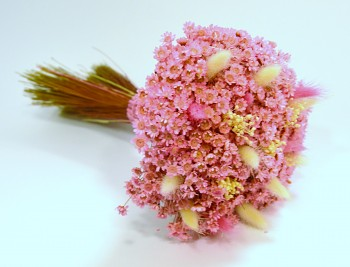 Kytice ze sušených květin Glixia růžová