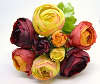 Umělá květina KYTICE RANUNCULUS  PODZIMNÍ