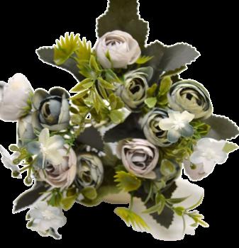 Umělá květina KYTIČKA RANUNCULUS ZELENÝ