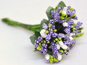 Umělá květina FIALOVÁ PŘÍZDOBA