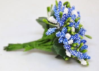Umělá květina MODRÁ PŘÍZDOBA