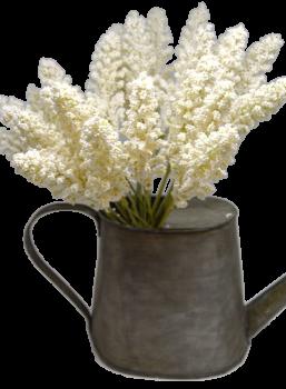 Umělá květina PROSO BÍLÉ