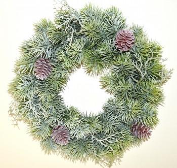 Vánoční věnec ZELENÝ SE ŠIŠKOU