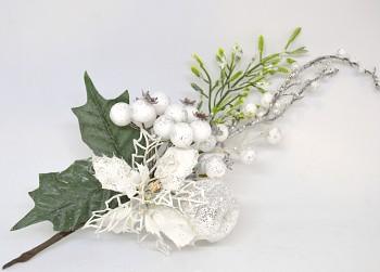 Vánoční dekorace VĚTVIČKA S VÁNOČNÍ HVĚZDOU