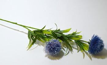 Umělá květina BODLÁČEK FIALOVÝ