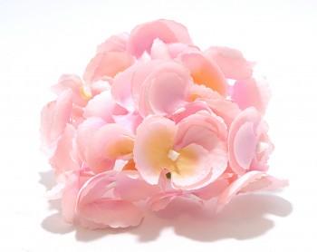 Umělá květina Hortenzie světle růžová