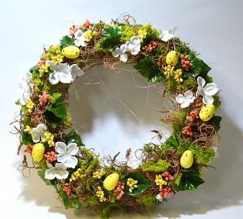 Velikonoční věnec na dveře BAREVNÝ