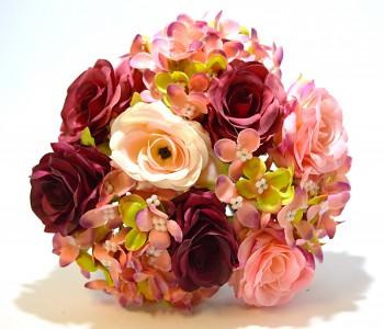 Umělá květina RŮŽIČKY S HORTENZIÍ