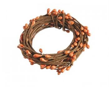 Dekorační drátek zdobený oranžový