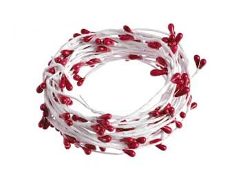 Dekorační drátek zdobený červený
