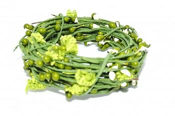 Dekorační drátek zdobený zelený