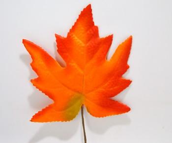 Javorový list oranžový, podzimní dekorace