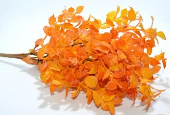 Oranžové lístečky, podzimní dekorace