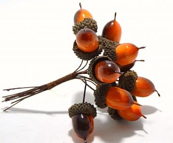 Žaludy, podzimní dekorace