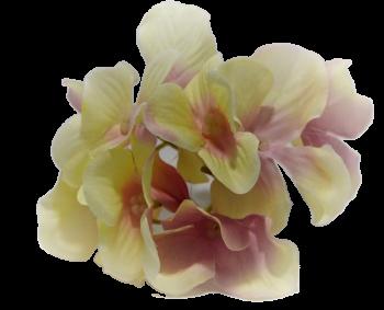 Umělá květina Hortenzie krémová