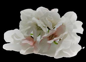 Umělá květina Hortenzie bílorůžová