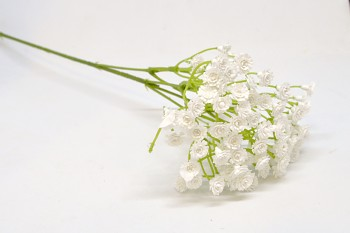 Umělá květina Gypsohila bílá