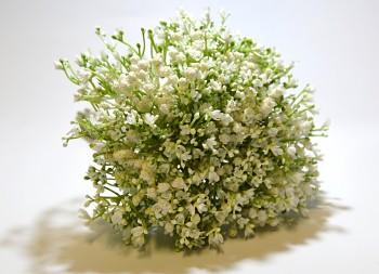 Umělá květina Gypsohila bílá kytice
