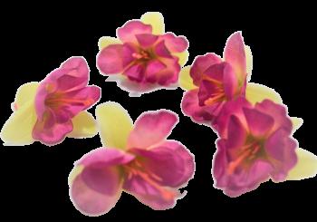 Umělá květina FUCHSIE žlutorůžová