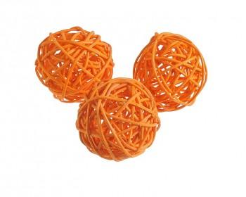 Ratanová koule oranžová