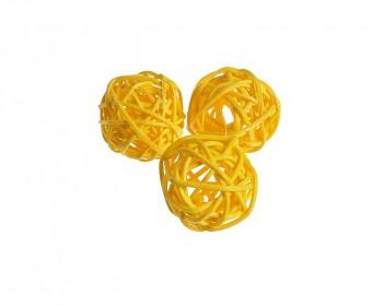 Ratanová koule žlutá