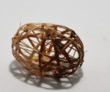 Velikonoční vajíčko HNĚDÉ PROPLÉTANÉ