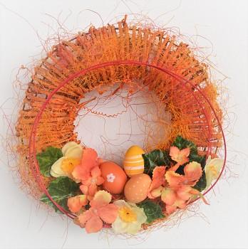 Velikonoční věnec na dveře  S HORTENZIÍ