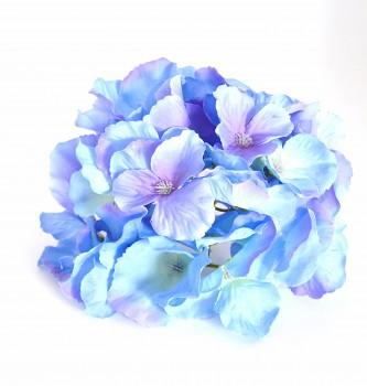 Umělá květina HORTENZIE MODRÉ KVĚTY