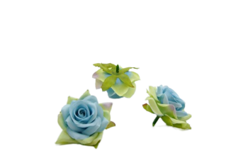 Umělá květina Růže Small horn modrá