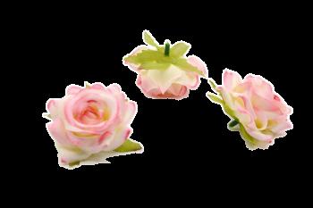Umělá květina Růže Small horn růžová