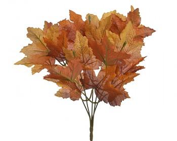 Podzimní dekorace JAVOROVÉ LISTÍ HNĚDÉ