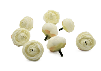 Umělá květina BÍLÉ POUPÁTKO