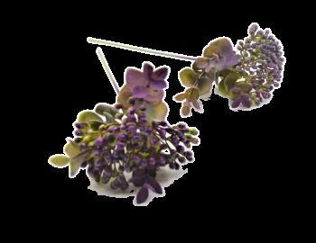 Umělá květina BOBULE TMAVĚ FIALOVÉ
